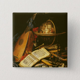 Still Life with Musical Instruments 15 Cm Square Badge
