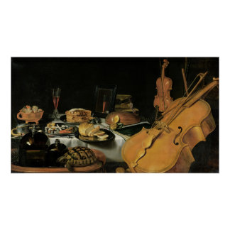 Still Life with Musical Instruments, 1623 Print