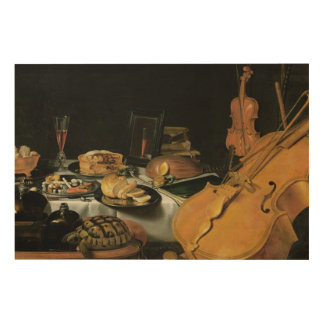 Still Life with Musical Instruments, 1623 Wood Prints