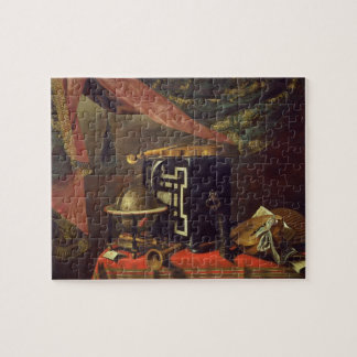 Still Life with Musical Instruments (oil on canvas Jigsaw Puzzle