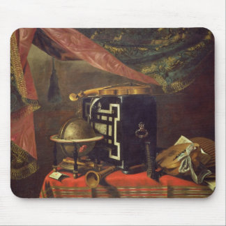 Still Life with Musical Instruments (oil on canvas Mouse Mat