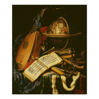 Still Life with Musical Instruments Poster