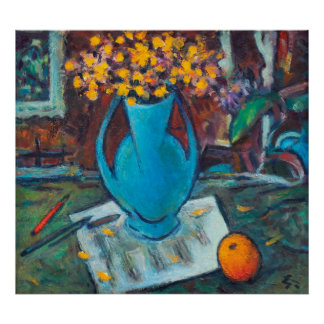 Still Life with Musical Notes Poster