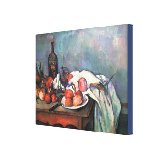 Still Life With Onions by Paul Cezanne Canvas Print