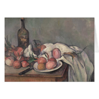 Still Life with Onions, c.1895 Card