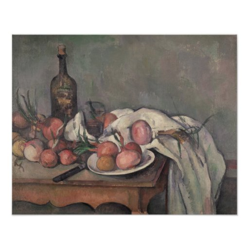 Still Life with Onions, c.1895 Poster