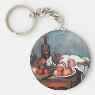 Still life with onions - Paul Cézanne Key Chains