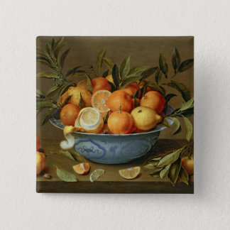 Still Life with Oranges and Lemons 15 Cm Square Badge