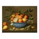 Still Life with Oranges and Lemons Post Cards