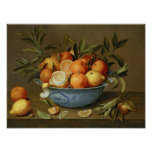 Still Life with Oranges and Lemons Poster