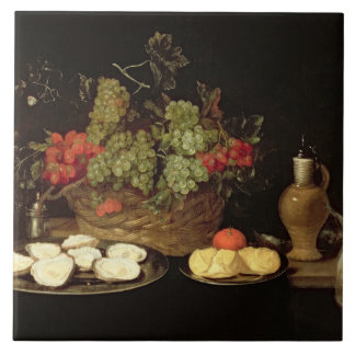 Still Life with Oysters Tile