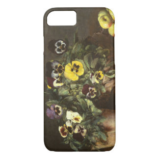 Still Life with Pansies by Fantin-Latour iPhone 7 Case