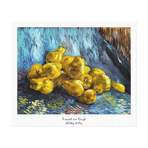 Still Life with Pears Van Gogh painting Stretched Canvas Print