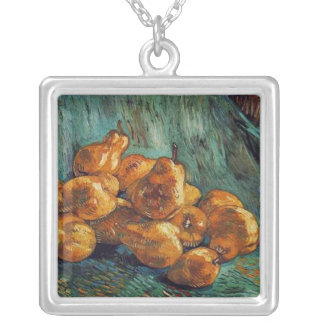 Still Life with Pears, van Gogh Silver Plated Necklace