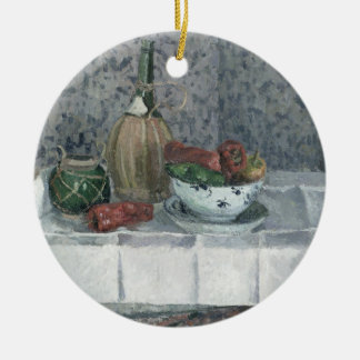 Still Life with Peppers, 1899 (oil on canvas) Round Ceramic Decoration