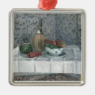 Still Life with Peppers, 1899 (oil on canvas) Silver-Colored Square Decoration