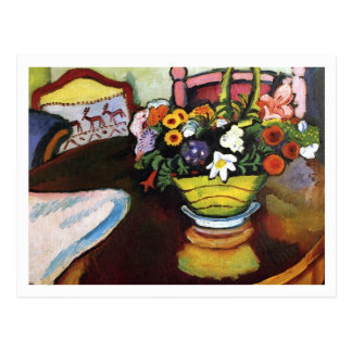 Still Life with Pillow by August Macke Postcard
