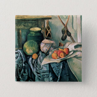Still Life with Pitcher and Aubergines 15 Cm Square Badge