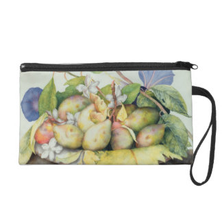 Still life with Plums, Walnuts and Jasmine (w/c on Wristlet