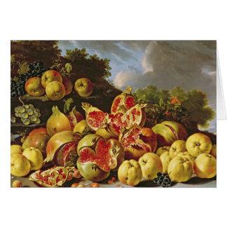 Still Life with pomegranates Card