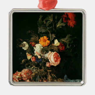Still Life with Poppies and Roses Christmas Ornament
