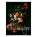 Still Life with Poppies and Roses Poster