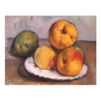 Still Life with Quince, Apples, Pears by Cezanne Post Cards