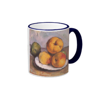 Still Life with Quince, Apples, Pears by Cezanne Ringer Mug
