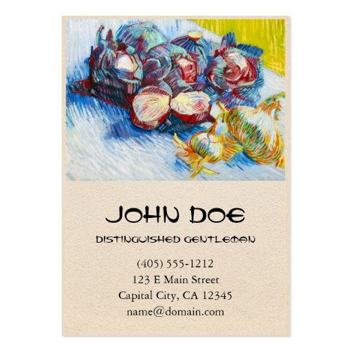 Still Life with Red Cabbage and Onions by Vincent Business Card Templates