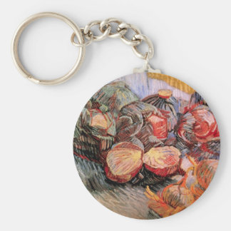 Still Life with Red Cabbages and Onions - Van Gogh Key Chains