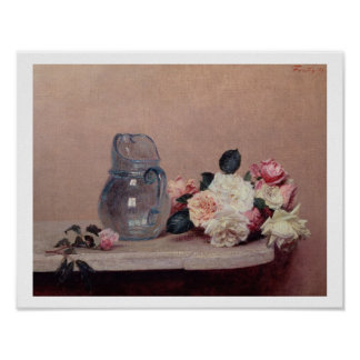 Still Life with Roses, 1889 (oil on canvas) Poster