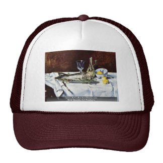 Still Life With Salmon By Manet Edouard Trucker Hat