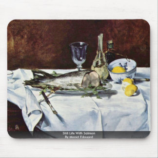 Still Life With Salmon By Manet Edouard Mouse Pad