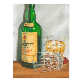 Still Life with Scotch by Jennifer Goldberger Postcard