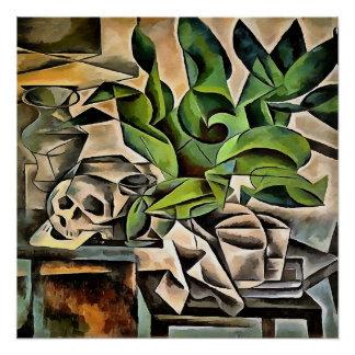 Still Life with Skull After Bohumil Kubista