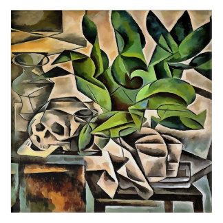 Still Life with Skull After Bohumil Kubista Acrylic Wall Art