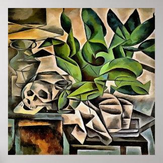 Still Life with Skull After Bohumil Kubista Poster
