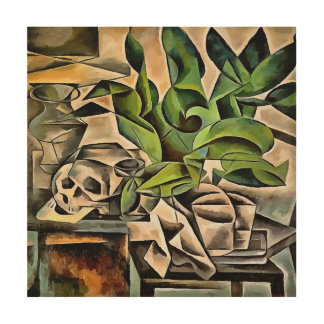 Still Life with Skull After Bohumil Kubista Wood Canvas
