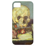 Still Life with Skull, Candle, Book By Cezanne iPhone 5 Case