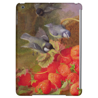 Still Life with Strawberries and Bluetits iPad Air Cover