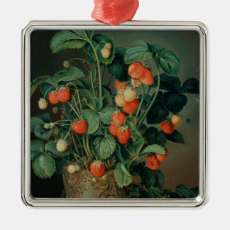 Still life with strawberries christmas ornament