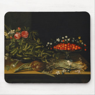 Still Life with Strawberries Mouse Mat