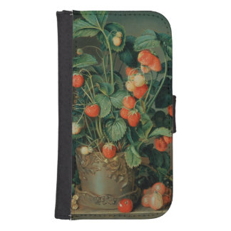Still life with strawberries phone wallet