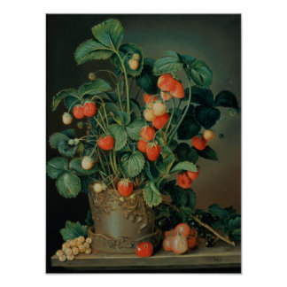 Still life with strawberries posters