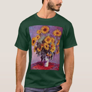 Still Life With Sunflowers By Claude Monet T-Shirt