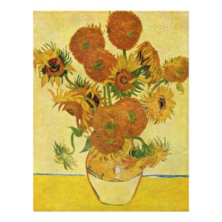 Still Life With Sunflowers By Vincent Van Gogh 21.5 Cm X 28 Cm Flyer