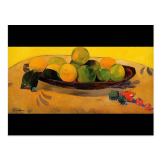 'Still Life with Tahitian Oranges' - Paul Gauguin Postcard