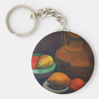 Still Life with tank by Paula Modersohn-Becker Keychains