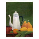 Still Life with Teapot & Fruit by Henri Rousseau