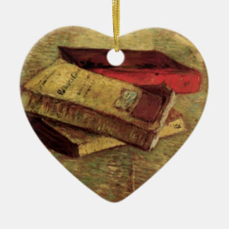 Still Life with Three Books by Vincent van Gogh Christmas Ornament